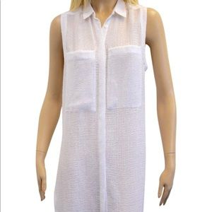 Helmut Lang - White Sleeve Less and Sheer Ns Tunic